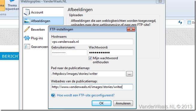 FTP Instellingen