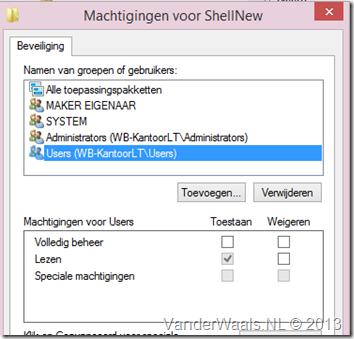 shellnew-rechten